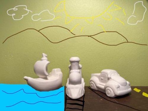 Transportation Trio Acrylic At-Home Kit