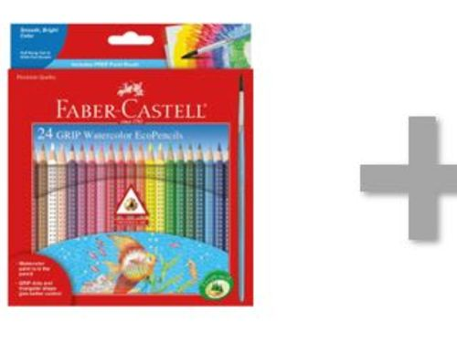 At-Home Kit: Faber-Castell - 24 GRIP Watercolor EcoPencils & Drawing Paper