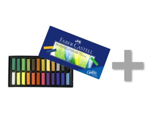 At-Home Kit: Faber-Castel Creative Studio Soft Pastel Crayons-  & Drawing Paper