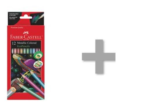 At-Home Kit: Faber Castell Metallic Colored Eco-pencils & Drawing Paper