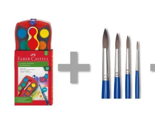 At-Home Kit: Faber-Castell Connector Watercolor Set & Watercolor Paper