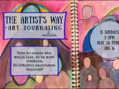 The Artist's Way + Art Journaling: 13 Week Online Course