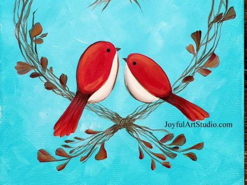 **Online** Redbirds and Wreath