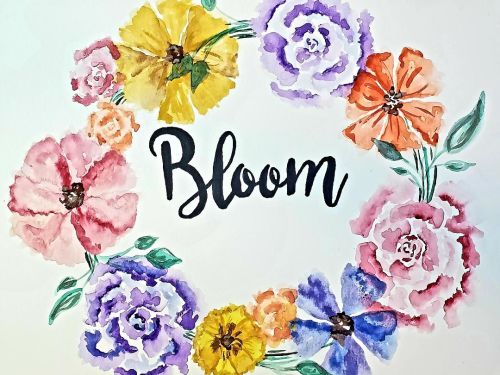 Video Tutorial- Watercolor Bloom Wreath