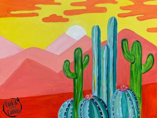 Cactus Landscape Paint @ Home Experience