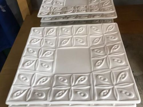 Tin Ceiling Plate At-Home Glaze/to be kiln fired Kit