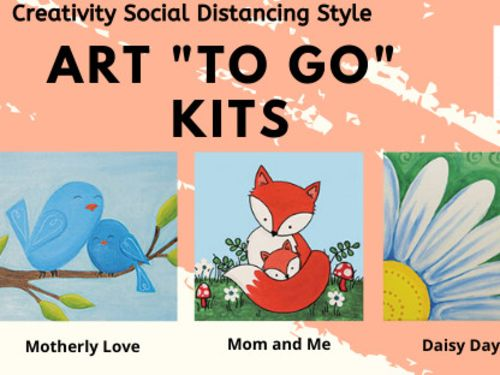 """Spring/Mother's Day Art """"To Go"""" Canvas Social Distancing Style -"""