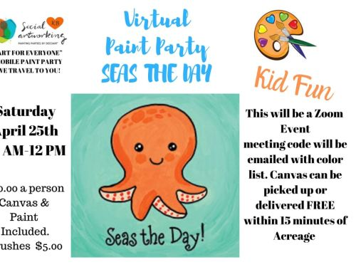 "Virtual Paint Class ""SEAS THE DAY"" At-Home Experience"