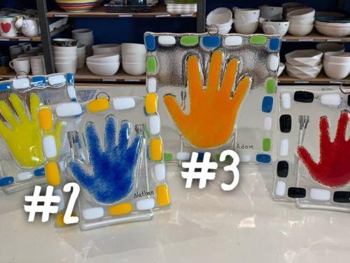 Custom Glass Handprints