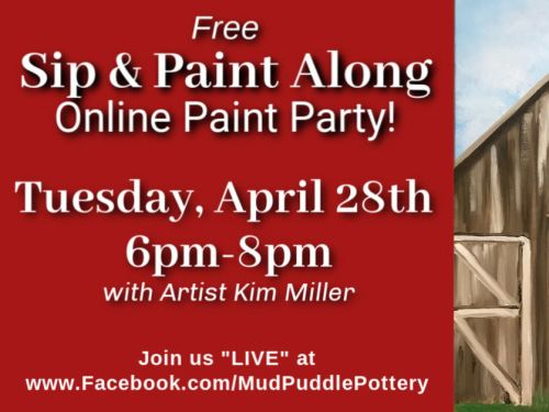 FREE ONLINE PAINT PARTY *Please click on info for details*
