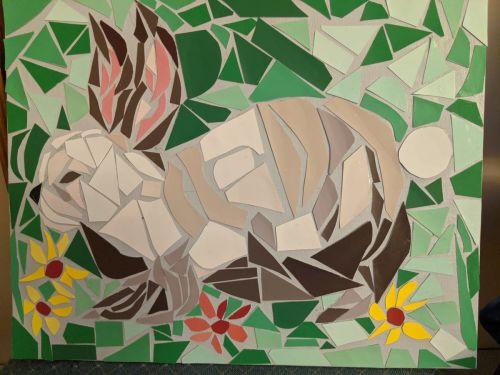Bunny Mosaic Zoom Workshop w/Trudell Olsen