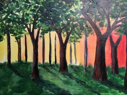 Morning Light: Online Painting Class $25 6pm
