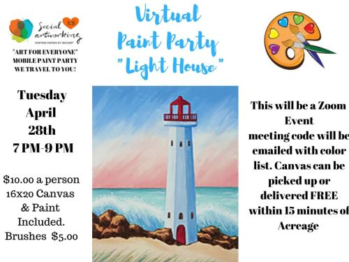 "Virtual Paint Class ""Light House"" At-Home Experience"
