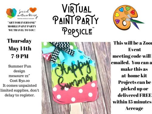 "Virtual Paint Class ""Popsicle"" At-Home Experience"