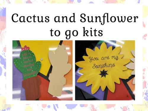 Sunflower and Cactus With Vinyl