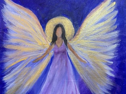 Angel: Online Painting Class $25 6pm
