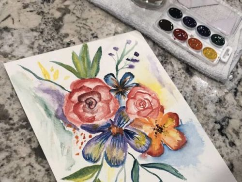 At-Home Floral Watercolor Painting - Video ONLY