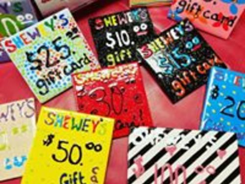 SHEWEY'S ONLINE GIFT CARD