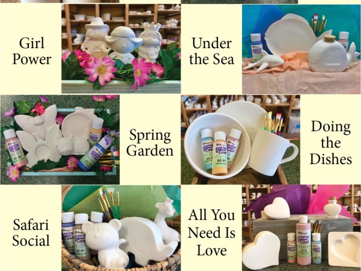 Pottery-To-Go Kits with Curbside Pick-up