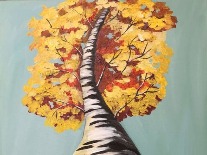 Birch Tree Perspective Paint @ Home Experience
