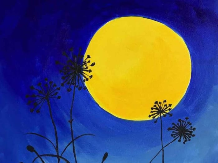 Dandelions in the Moonlight Paint @ Home Experience