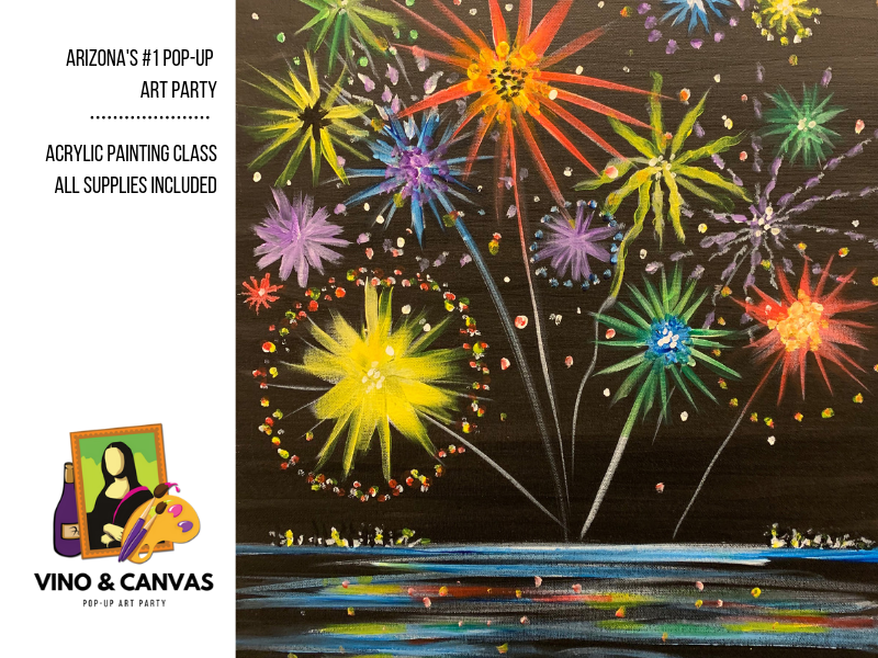 Fireworks Acrylic Painting Class