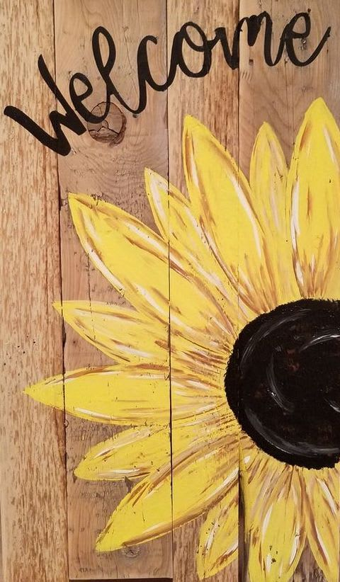 Wood Sign Paint Party (Sunflower Welcome)