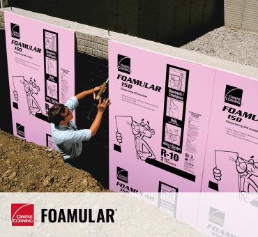 worker installing Foamular XPS inulation