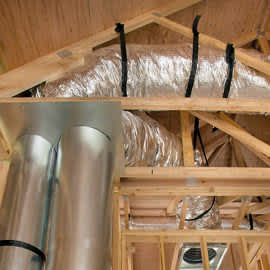 air ducts being shown in house framing
