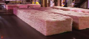 Batts of pink insulation
