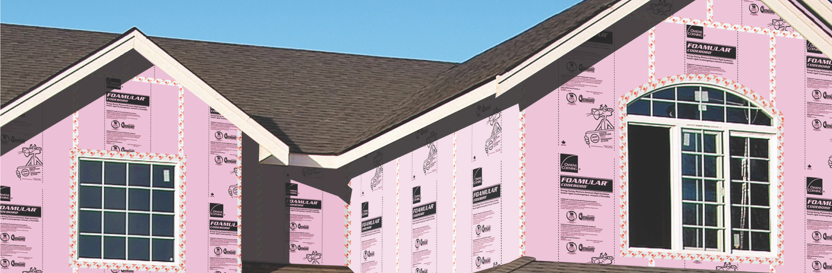house covered in CodeBord® Air Barrier System
