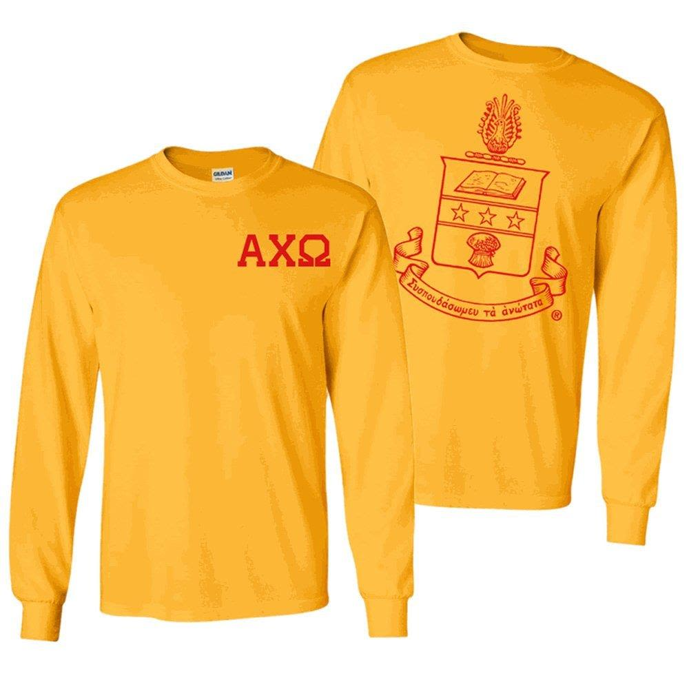 Alpha Chi Omega World Famous Crest Long-Sleeve T-Shirt