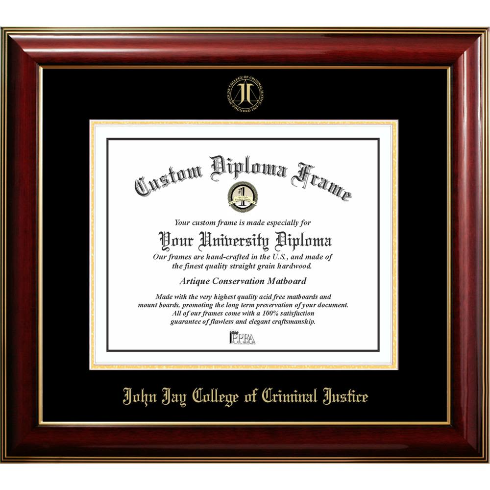 WinCraft John Jay College of Criminal Justice L383041 Inlaid Metal LIC Plate Frame