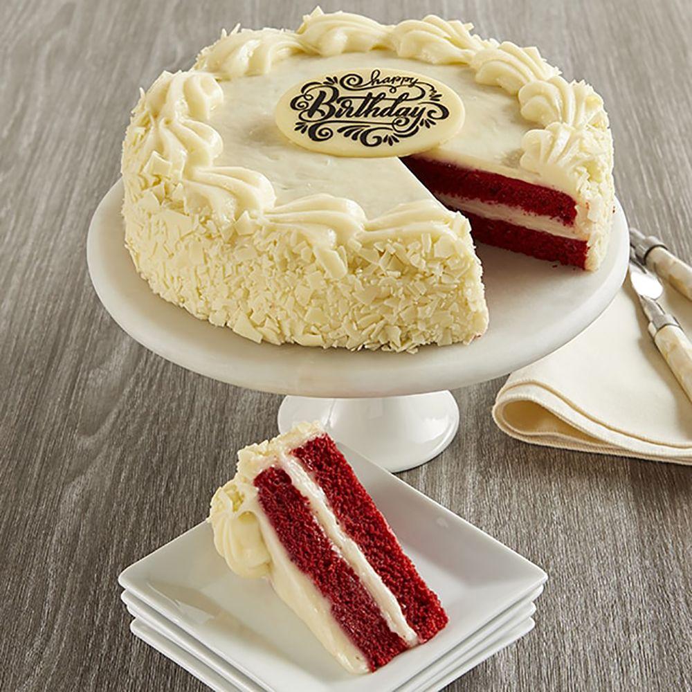 Superb Red Velvet Chocolate Happy Birthday Cake Funny Birthday Cards Online Fluifree Goldxyz