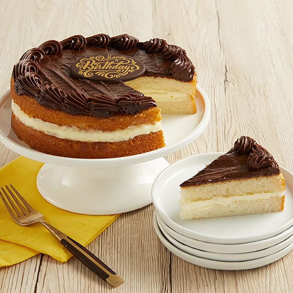 Outstanding Boston Cream Happy Birthday Cake Funny Birthday Cards Online Inifodamsfinfo