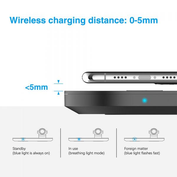 Mazer TRIO 3-in-1 Dual Wireless + Apple Watch Wireless Charging Stand ? Black 3