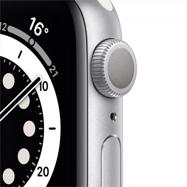 Apple Watch Series 6 GPS 44mm Silver Alum Case White Sport Band 1