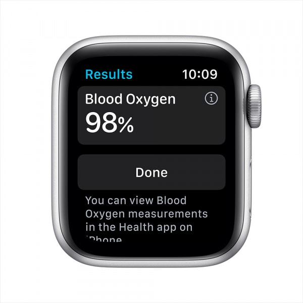 Apple Watch Series 6 GPS 44mm Silver Alum Case White Sport Band 2
