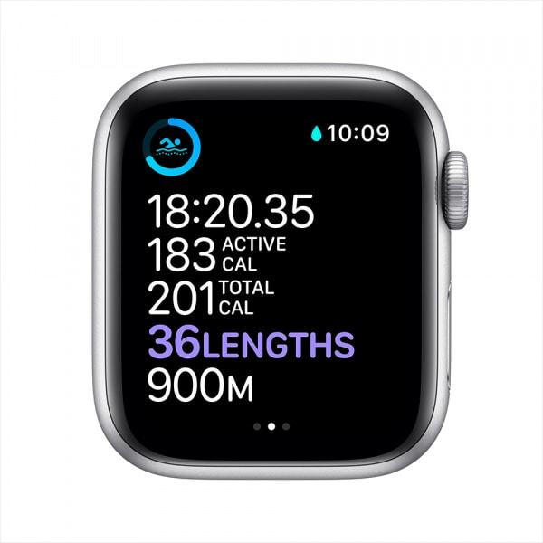 Apple Watch Series 6 GPS 44mm Silver Alum Case White Sport Band 3