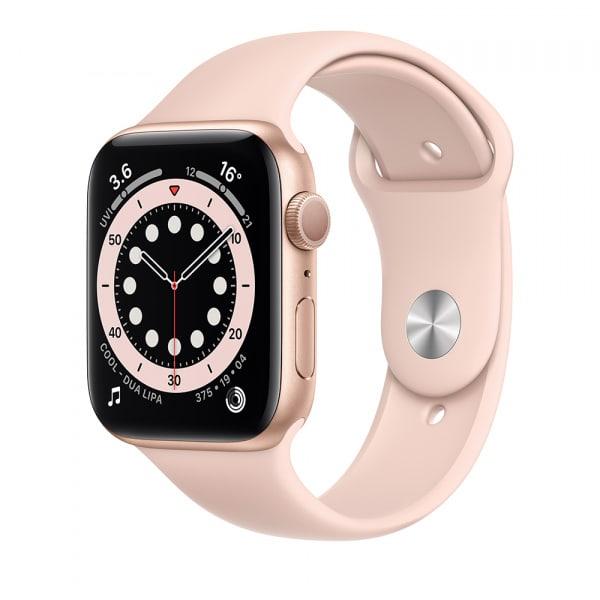 Apple Watch Series 6 GPS 44mm Gold Alum Case Pink Sand Sport Band 0