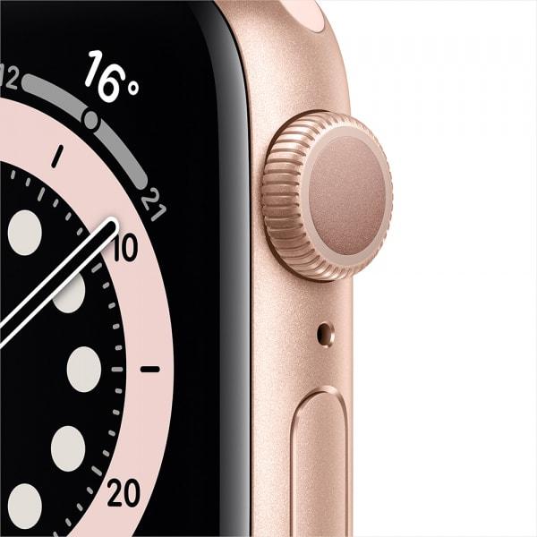 Apple Watch Series 6 GPS 44mm Gold Alum Case Pink Sand Sport Band 1