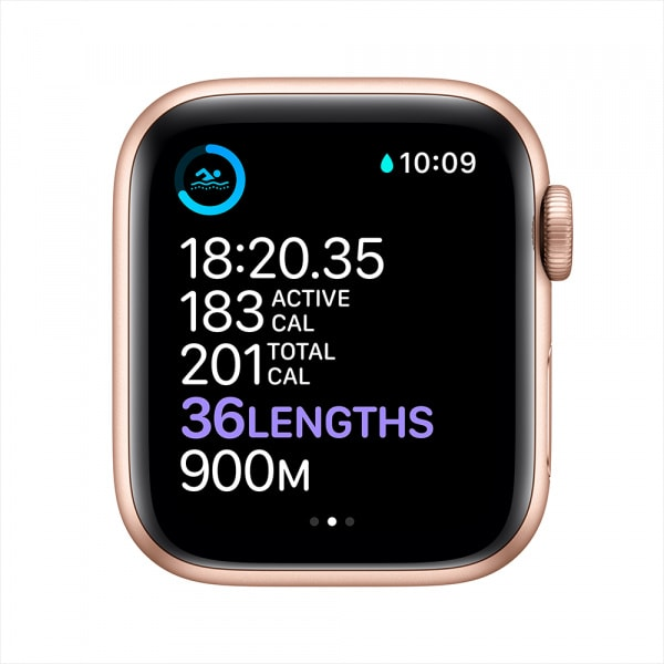Apple Watch Series 6 GPS 44mm Gold Alum Case Pink Sand Sport Band 3