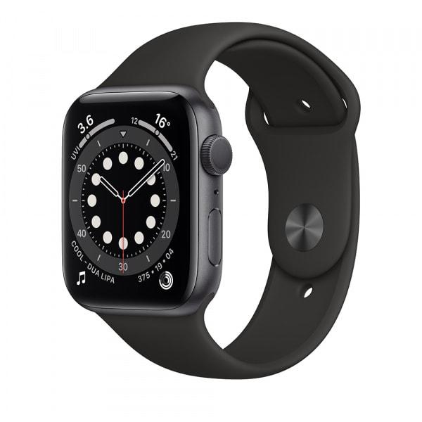 Apple Watch Series 6 GPS 44mm Space Gray Alum Case Black Sport Band 0