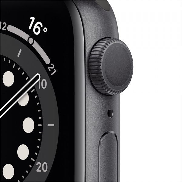 Apple Watch Series 6 GPS 44mm Space Gray Alum Case Black Sport Band 1