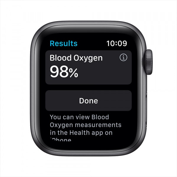 Apple Watch Series 6 GPS 44mm Space Gray Alum Case Black Sport Band 2