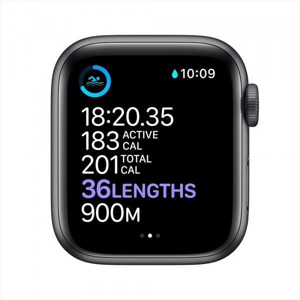 Apple Watch Series 6 GPS 44mm Space Gray Alum Case Black Sport Band 3