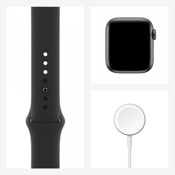 Apple Watch Series 6 GPS 44mm Space Gray Alum Case Black Sport Band 6