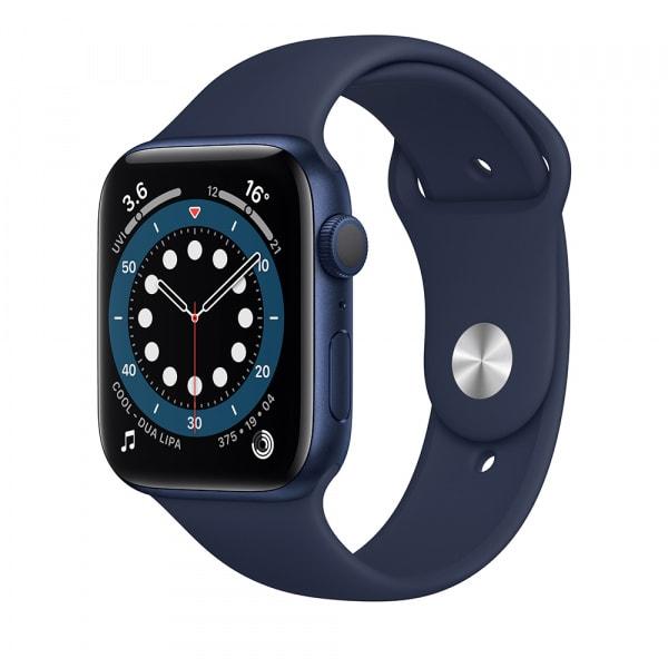 Apple Watch Series 6 GPS 44mm Blue Alum Case Deep Navy Sport Band 0