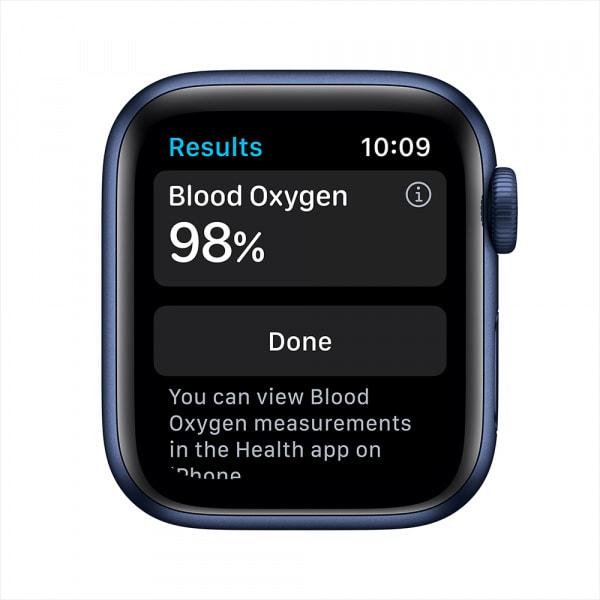 Apple Watch Series 6 GPS 44mm Blue Alum Case Deep Navy Sport Band 2