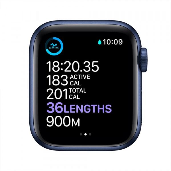 Apple Watch Series 6 GPS 44mm Blue Alum Case Deep Navy Sport Band 3